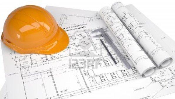 d1a7f-14994260-casco-en-los-planos-de-construccion-aisladas-sobre-fondo-blanco